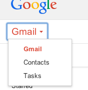 Gmail Dropdown